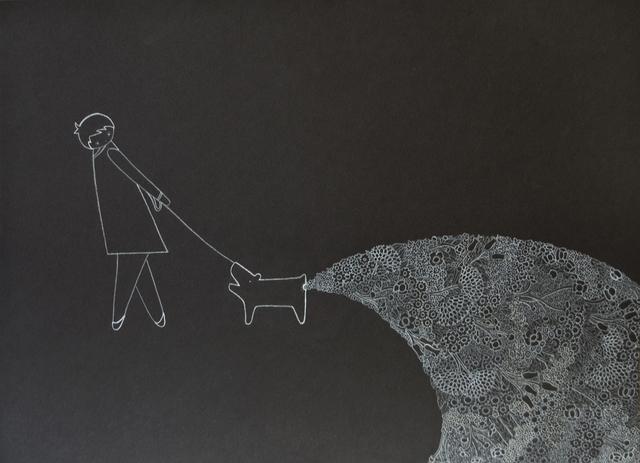 , 'Dog Defecating Flowers,' , Lois Lambert Gallery