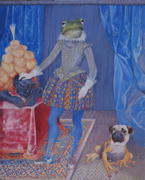 , 'Lord Frogmore and his Frogdog,' 2017, Wally Workman Gallery