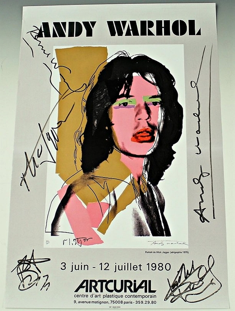 , 'Mick Jagger (Hand Signed by Andy Warhol, Mick Jagger and all of the Rolling Stones) ,' 1980, Alpha 137 Gallery