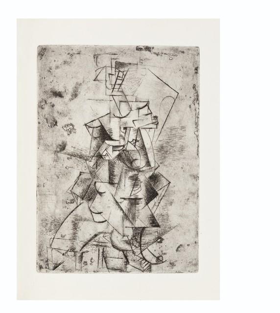 Pablo Picasso, 'Max Jacob, Saint Matorel, Henry Kahnweiler, Paris, 1911', Print, The complete book of four etchings, on Van Gelder laid paper, Christie's
