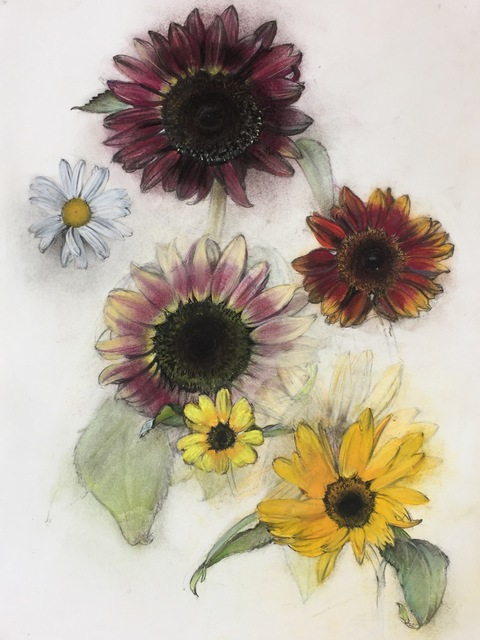 , 'Sunflowers and Daisy,' 2017, Clark Gallery