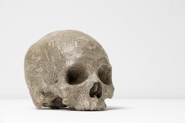 , 'Humument Skull,' 1996, Flowers