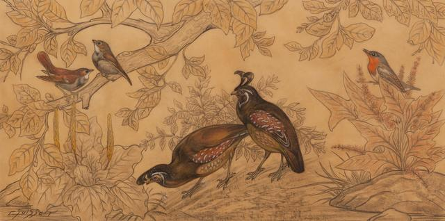, 'Bobwithe Quails, Japanese Nightingales and Sparrows,' , Galerie Dumonteil