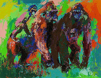 LeRoy Neiman, 'Gorilla Family', 1980, David Parker Gallery