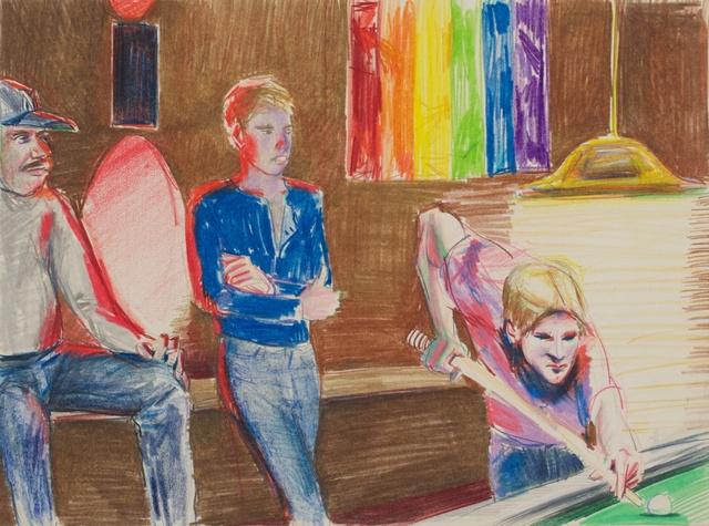 , 'Rainbow Flag Pool Table,' 1987, Galerie Thomas Fuchs