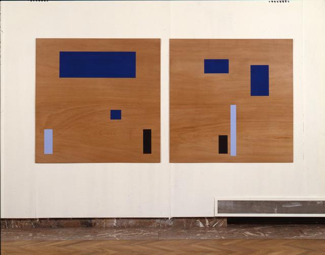 , 'Symmetrische-Asymmetrische reeks op paneel (Blue),' 1988-1989, Tatjana Pieters