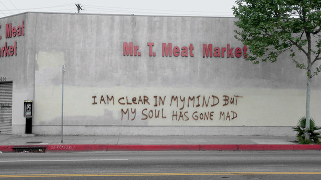 ", 'Mr. T. Meat Market (from the series: ""Field notes from South Los Angeles; this world is a fleshless one where madness, love and heretics are all I know""),' 2013, Roberts & Tilton"