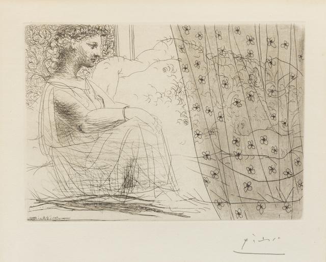 Pablo Picasso, 'Minotaure endormi contemple par un femme (from la suite Vollard)', 1933, Hindman