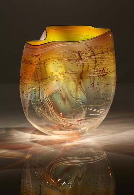 Dale Chihuly, 'Iris Amber Basket Set with Drawing Shard', 2017, Schantz Galleries