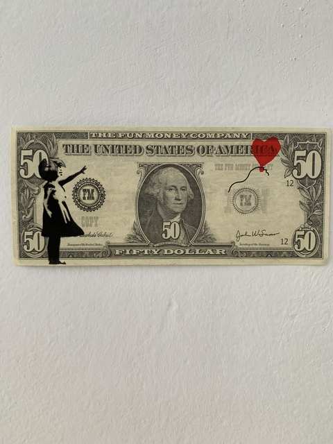"Banksy, 'BANKSY DISMALAND ""BALLOON GIRL"" ON $50 NOTE', 2015, Arts Limited"