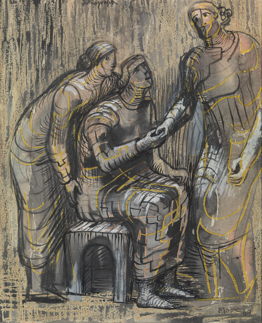 , 'Three Female Figures,' 1949, Osborne Samuel