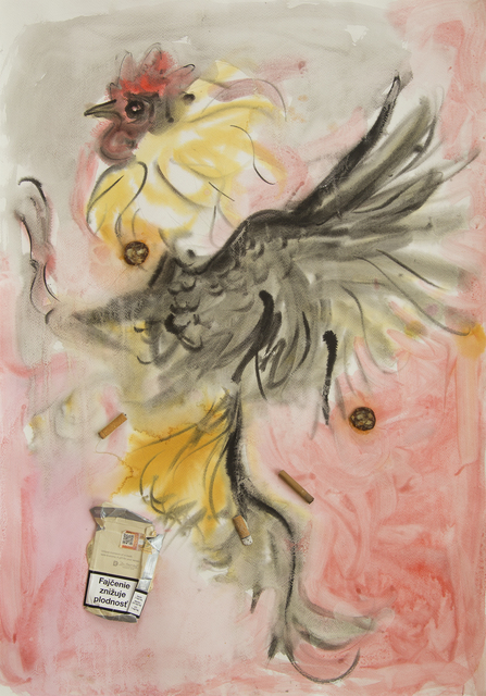 ", '""Chem farmers"" (fighting rooster),' 2016, Nathalie Karg Gallery"