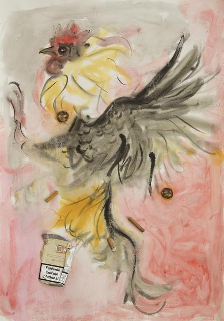 ", '""Chem farmers"" (fighting rooster),' 2016, Nathalie Karg Gallery"