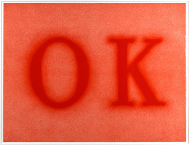 Ed Ruscha, 'OK (State II)', 1990, Leslie Sacks Gallery