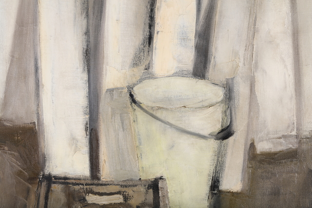 David Tindle, 'Still life with a fish', 1957, Painting, Oil on canvas, Chiswick Auctions