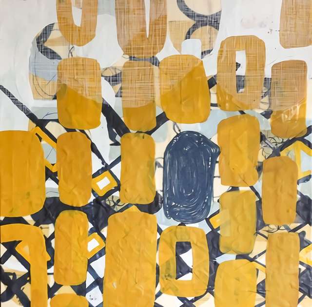 Amber George, 'Her Favorite Color is Yellow', 2016, Painting, Encaustic on wood panel, Susan Eley Fine Art
