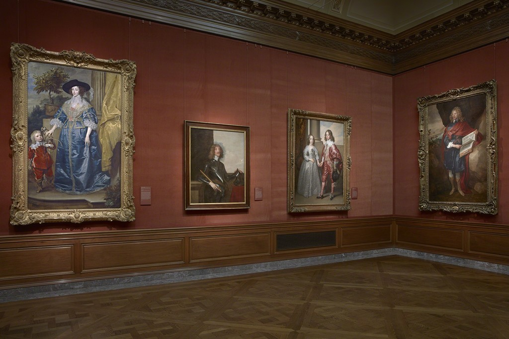 Installation Shot of Works in East Gallery from, Van Dyck: The Anatomy of Portraiture, The Frick Collection, New York, Photo: Michael Bodycomb