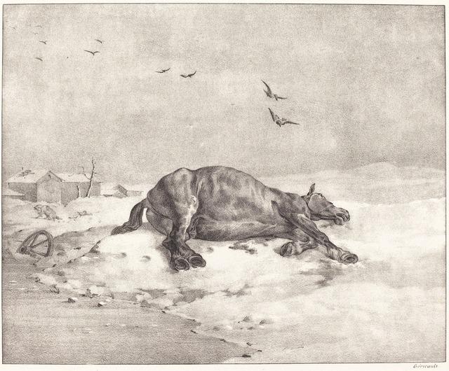 Théodore Géricault, 'Dead Horse', 1823, National Gallery of Art, Washington, D.C.