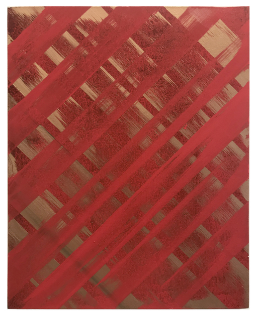 , 'Red over Gold,' 2013, Coagula Curatorial