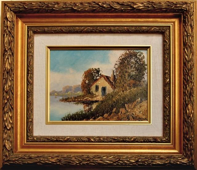 Victor Rousseau, ' Landscape with house', ca. 1910, Joseph Grossman Fine Art Gallery