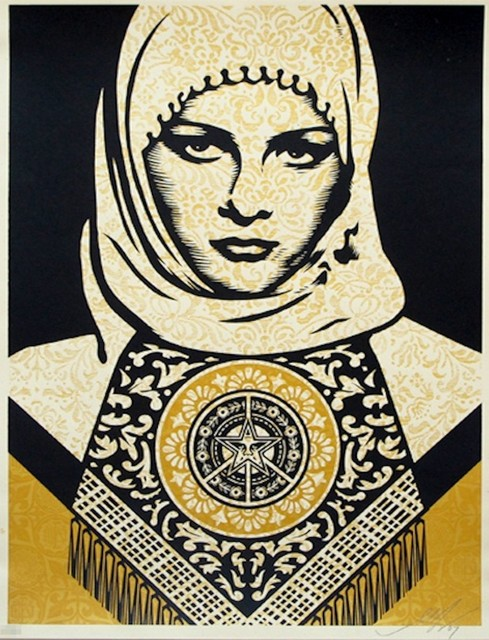 Shepard Fairey, 'Arab Woman Gold', 2006, Art276