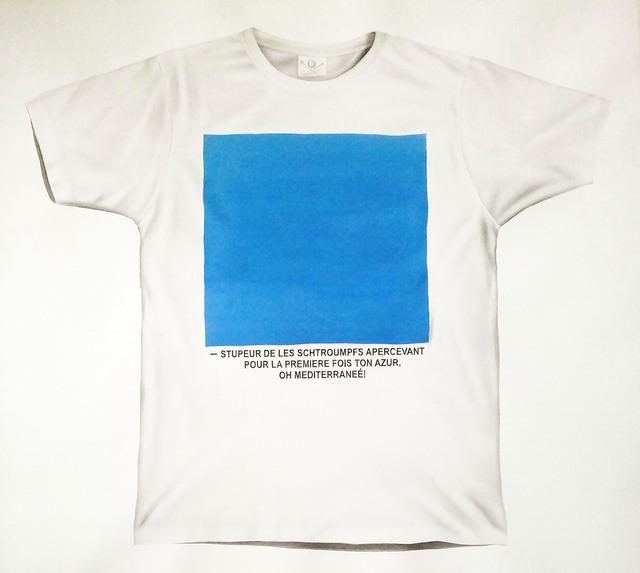 , 'T-shirt (cuadrado azul),' 2017, Fernando Pradilla/El Museo