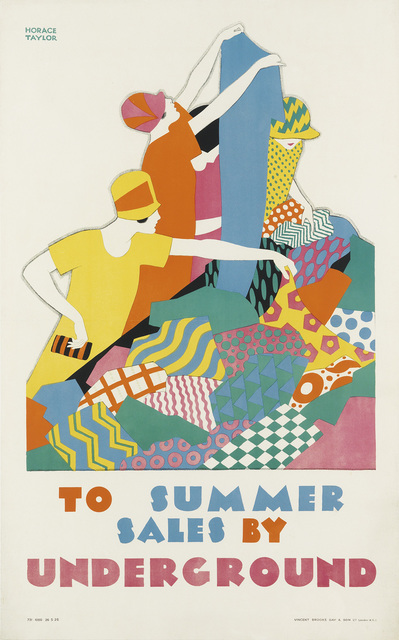 Horace Taylor, 'TO SUMMER SALES BY UNDERGROUND', 1926, Swann Auction Galleries