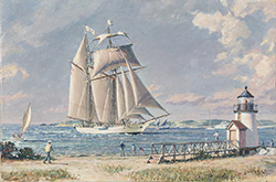 """, 'Nantucket Arrival -""""Shenandoah"""" Off Brant Point,' 2016, Rehs Contemporary Galleries"""