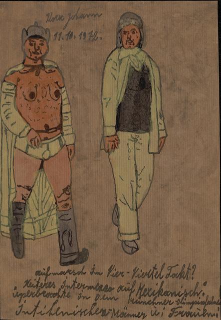 , 'Deployment in Four-Quarter Beat ,' 1972, christian berst art brut