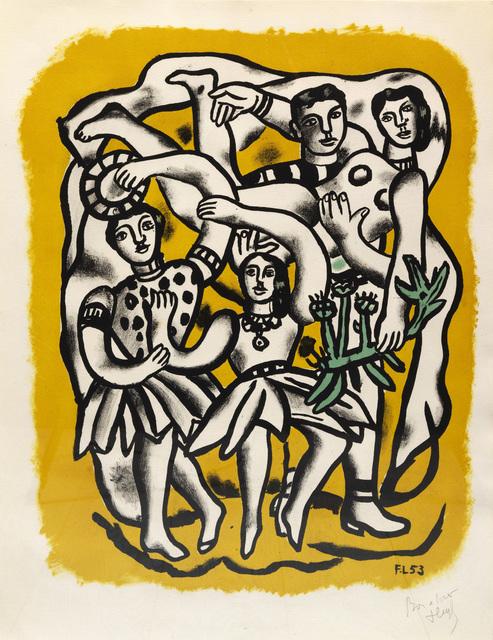 Fernand Léger, 'Les Danseuses (Fond jaune)', 1954, Sims Reed Gallery