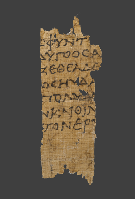'Fragment of Homer's Odyssey',  1st century B.C., J. Paul Getty Museum