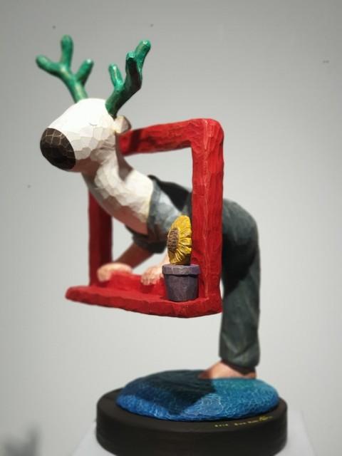 Sun Kim, 'Red Window Series Deer and Sunflower pot', 2019, ART MORA
