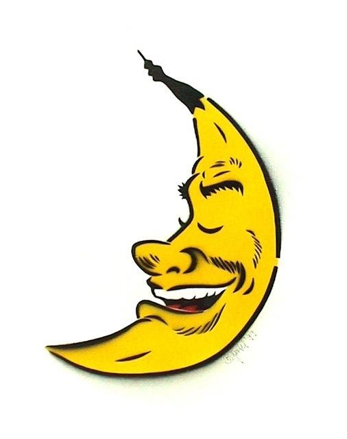 Bananensprayer Thomas Baumgärtel, 'Mondbanane', 1999, Galerie Kronsbein