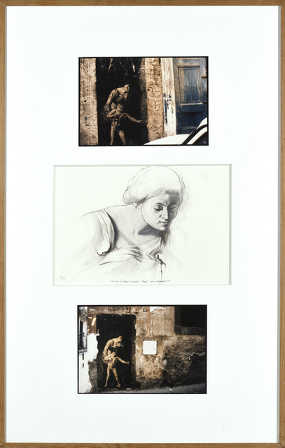 Ernest Pignon-Ernest, 'Etude pour la madone au serpent', 1991, Drawing, Collage or other Work on Paper, Ink on paper and photography, Millon