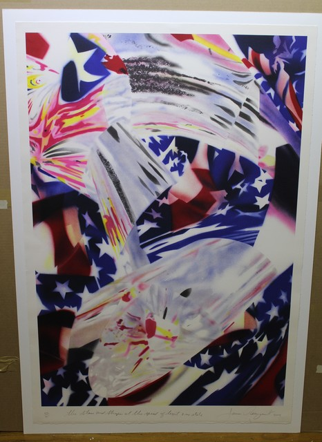 James Rosenquist, 'Stars and Stripes At The Speed of Light', 2004, Hal Katzen Gallery