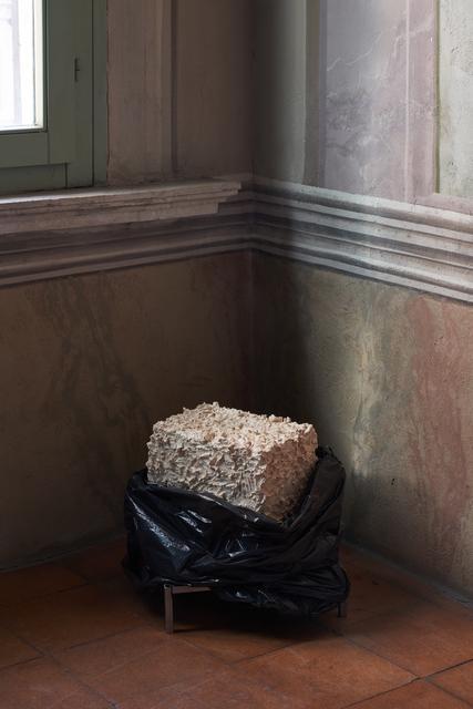 Serena Fineschi, 'L'uomo Nero (Meriggio), Caption Series', 2020, Sculpture, Clay, plastic bag, Palazzo Monti