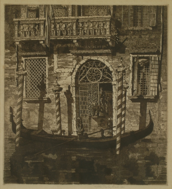 John Taylor Arms, 'The Balcony, Venetian Gateway', 1931, Private Collection, NY