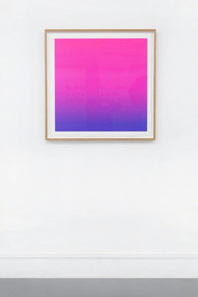 Arno Beck: O. T. Silkprint on paper, 2017