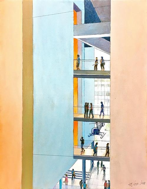 Richard Haas, 'Interior Courtyard, Museum of Modern Art (MOMA)', 2018, Alpha 137 Gallery