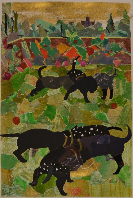, 'Puppies, Spot and her Siblings,' 2014, Rebecca Hossack Art Gallery