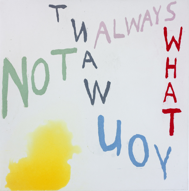 , 'NOT ALWAYS WHAT YOU WANT,' 2014, Paulson Fontaine Press