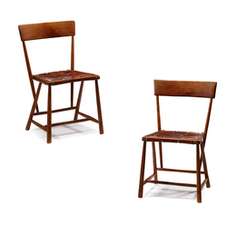 Pair of Ash Chairs, Paoli, Pennsylvania