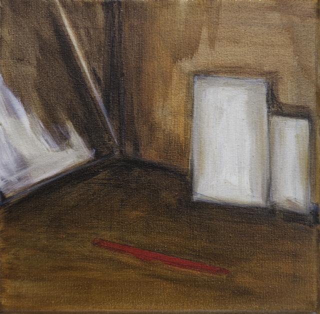 , 'Red line (no dog),' 2017, Galerie Bart