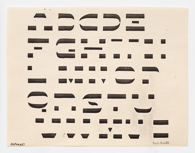 , 'Alphabet,' 1984, Richard Saltoun