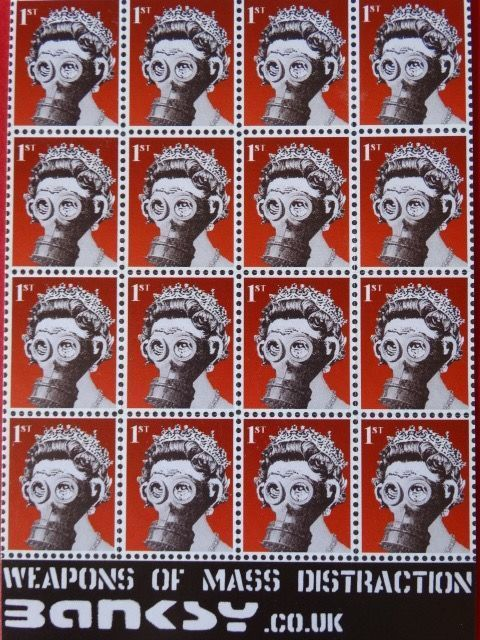 Banksy, 'Weapons of Mass Distraction Stamps', 2001, End to End Gallery