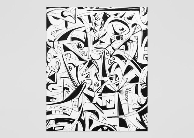 , 'Rorschach 6,' 2018, ABXY