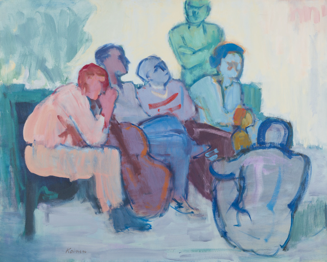 Jacob Kainen, 'Discussion', 1965, Painting, Oil on linen, Childs Gallery