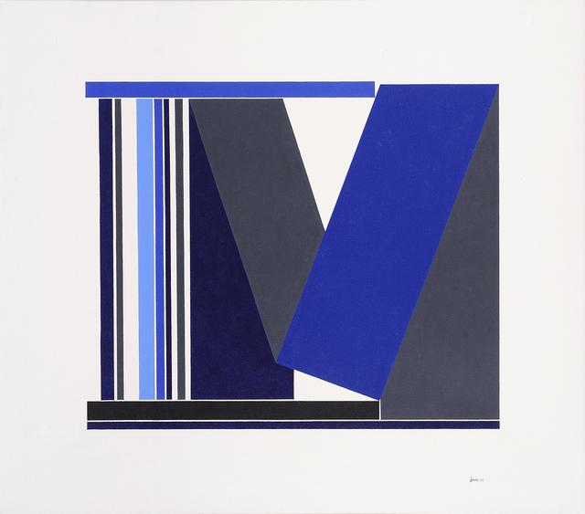 , 'Blue & Grey Structure,' 1989, Charles Nodrum Gallery