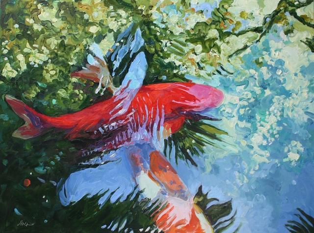 , 'Two Koi June 2,' 2016, Beth Urdang Gallery