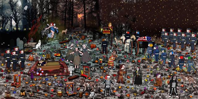 , 'Fiesta en el bosque ,' 2017, Galería Gema Llamazares